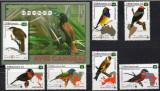 CUBA 2015, Fauna Pasari, serie completa neuzata, MNH, Nestampilat