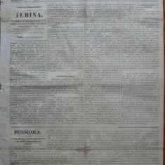 Ziarul Albina , nr. 50 , 1870 , Budapesta , in limba romana , Director V. Babes
