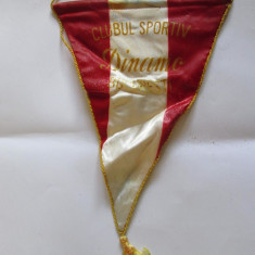 FANION MATASE CLUBUL SPORTIV DINAMO BUCURESTI ANII 70 - Fanion fotbal