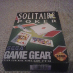 Solitaire Poker - SEGA Game Gear - Jocuri Sega, Arcade, 3+, Single player
