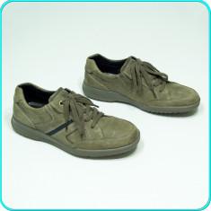 DE FIRMA → Pantofi din piele, ASPECT VINTAGE, calitate ECCO → barbati | nr. 42 - Pantofi copii Ecco, Culoare: Bej, Piele naturala