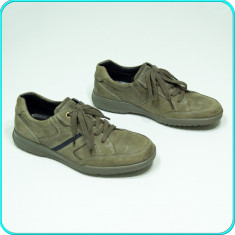 DE FIRMA _ Pantofi din piele, ASPECT VINTAGE, calitate ECCO _ barbati | nr. 42 - Pantof barbat Ecco, Culoare: Bej, Piele naturala
