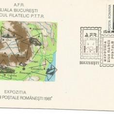(No2) plic omagial- Expozitia Ziua marcii postale romanesti Bucuresti 1981