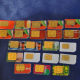 Lot 20 Cartele SIM expirate, de colectie! Connex Go, Vodafone, Orange, Kamarad.Vechi - Cartela GSM