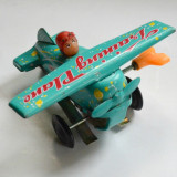 Jucarie veche din tabla Avion TRAINING PLANE - MS - 011 Made in China - Colectii