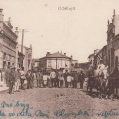 ODOBESTI PIATA FRIZERIA TRASURA ANIMATA CIRCULATA 1918 K. U. K. FELDSPITAL - Carte Postala Moldova dupa 1918, Printata