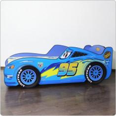 Pat copii Cars varianta 3D - Pat tematic pentru copii Altele, Altele, Alte dimensiuni, Albastru