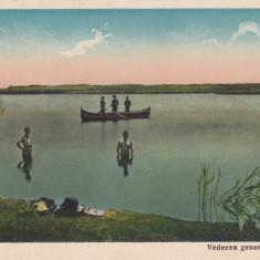 AMARA, VEDEREA GENERALA A LACULUI - Carte Postala Muntenia dupa 1918, Necirculata, Printata