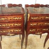 Superb set de 2 comodine franceze intarsiate foarte elegante