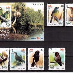 CUBA 2009, Fauna Pasari, serie neuzata, MNH - Timbre straine, Nestampilat