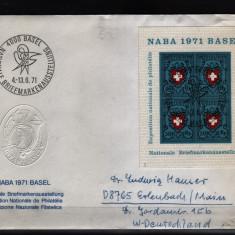 1971 elvetia bloc 21 stampilat - Timbre straine, Nestampilat