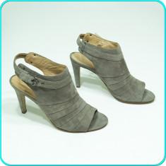 NOI → Sandale dama, DIN PIELE, aerisite, de calitate, 5th AVENUE → femei | nr 40, Culoare: Gri, Piele naturala