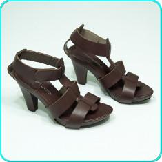 DE CALITATE→ Sandale dama, DIN PIELE, frumoase, fiabile, MINUCCI → femei | nr 38, Culoare: Maro, Piele naturala