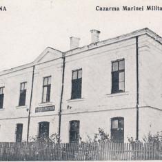 SULINA, CAZARMA MARINEI MILITARE - Carte Postala Dobrogea 1904-1918, Necirculata, Printata