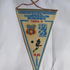 FANION STEAUA-GOTEBORG TURUL III CCE 15 MARTIE 1989 - Fanion fotbal