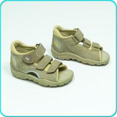 NOI → Sandale PIELE, comode, aerisite, cu protectie, calitate ELEFANTEN → nr. 21 - Sandale copii, Culoare: Bej, Baieti, Piele naturala