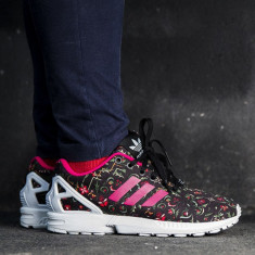 ADIDASI ORIGINALI 100% ZX Flux Pink Floral MODEL F. RAR GERMANIA NR 36 ;37 - Adidasi dama, Culoare: Din imagine, Marime: 36 2/3