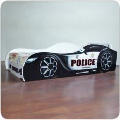 Pat copii masina Police varianta americana - Pat tematic pentru copii Altele, Altele, Alte dimensiuni, Alb