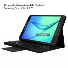 Husa cu tastatura Bluetooth Samsung Galaxy Tab A 9.7 T550 T555 (cod:HTDT50) - Tastatura tableta, 9.7 inch