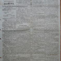 Ziarul Albina , nr. 48 , 1870 , Budapesta , in limba romana , Director V. Babes