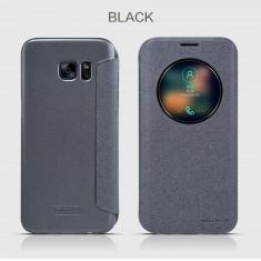 Husa Samsung Galaxy S7 Edge S-VIEW Sparkle by Nillkin Black - Husa Telefon Samsung, Negru, Cu clapeta, Toc