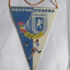 FANION UNIVERSITATEA CRAIOVA ANII 80 - Fanion fotbal