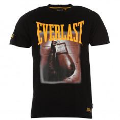 Tricou polo barbati barbatesc fashion Everlast Photo Print ORIGINAL masura L - Tricou barbati Everlast, Marime: L, Culoare: Negru, Maneca scurta, Bumbac