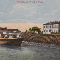 OLTENITA, PORTUL SI VAMA - Carte Postala Muntenia dupa 1918, Necirculata, Printata