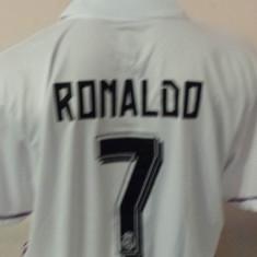 TRICOU RONALDO REAL MADRID ALB SEZON 2016-2017 MARIME XS, S, M, L, XL.XXL - Tricou echipa fotbal, De club, Maneca scurta