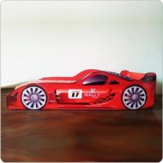 Pat copii masina Rally Red - Pat tematic pentru copii Altele, Altele, Alte dimensiuni, Rosu