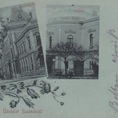 SATU MARE, SALUTARI DIN SATU MARE, CLASICA, CIRCULATA MART. ''900 - Carte Postala Maramures pana la 1904, Printata