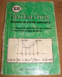 Matematica - Elemente de Analiza matematica - rezolvari, enunturi /clasa a XII a