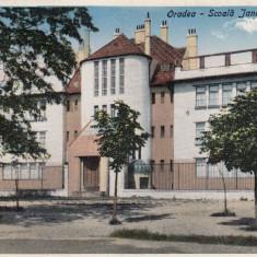 ORADEA - SCOALA JANDARMERIE . ED. SIPOS & REICH, LIBRARIA ORADEA - Carte Postala Crisana dupa 1918, Necirculata, Printata