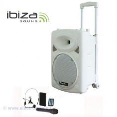 BOXA PORTABILA 10 inch/30CM 700W 12/230V USB/MP3 ALB - Mixere DJ