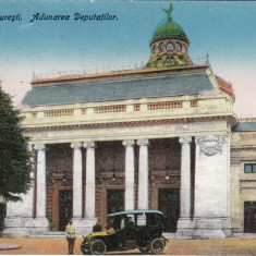 BUCURESTI, ADUNAREA DEPUTATILOR, MASINA DE EPOCA, CIRCULATA JAN. 1925 - Carte Postala Muntenia dupa 1918, Printata