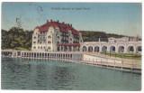 #1736- Romania, Ocna Sibiului, Vizakna, carte post. circ. 1924: Hotelul statului