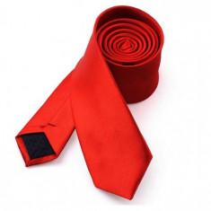 Cravata slim rosie, Culoare: Bleumarin, Negru, Rosu