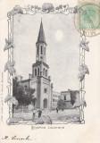 BUCURESTI  BISERICA LUTHERANA  CLASICA TCV CIRCULATA 1904, Printata