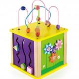 Cub Educational 5 in 1 de Marime Medie - VIGA - Jocuri Logica si inteligenta, Unisex