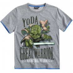 Tricou Star Wars gri deschis