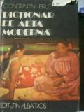 DICTIONAR DE ARTA MODERNA CONSTANTIN PRUT