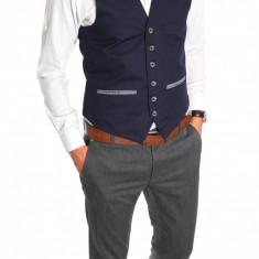 Vesta tip ZARA vesta eleganta casual - vesta barbati - vesta slim fit - cod 6504, Marime: S, M, L, XL, Culoare: Din imagine