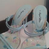 Sandale elegante bleu - Sandale dama, Marime: 36