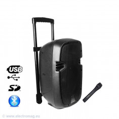 BOXA PORTABILA ACTIVA 10 inch/25CM 200W RMS USB/SD/BT/VHF - Mixere DJ