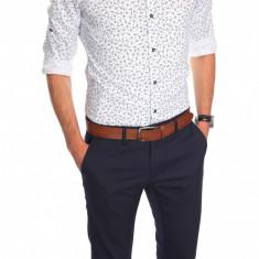 Camasa imprimeu - camasa barbati - camasa slim - camasa fashion - cod 6453, Marime: XL, Culoare: Din imagine, Maneca lunga