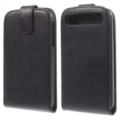 Husa Flip Vertical Blackberry Classic Q20 Piele PU Neagra - Husa Telefon