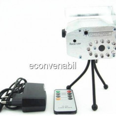 Laser Stroboscop cu LEDuri si Telecomanda YX032 - Laser lumini club