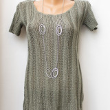 Top tricotat gri, marime M