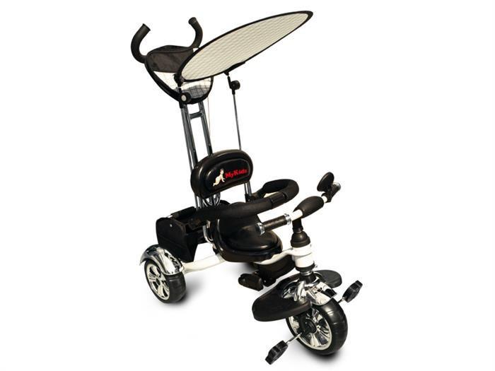 Tricicleta Pentru Copii Mykids Luxury Kr01 White foto mare
