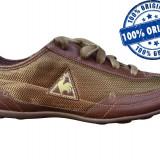 Adidasi dama Le Coq Sportif Marquise - adidasi originali - adidasi panza, Culoare: Maro, Marime: 39, Textil